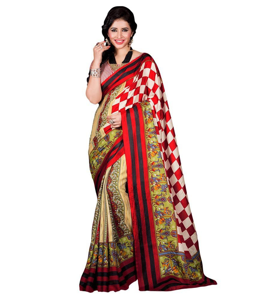 Apple Creation Multicolour Silk Saree