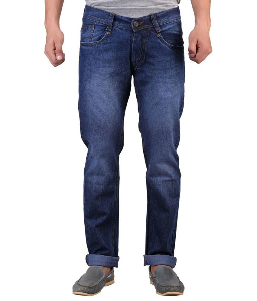 D2nine Blue Slim Fit Jeans