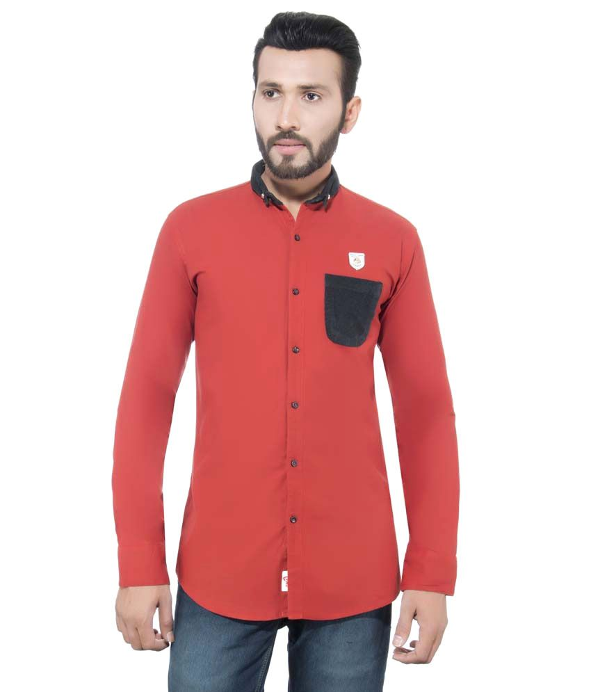 Casuals Orange Casual Shirt