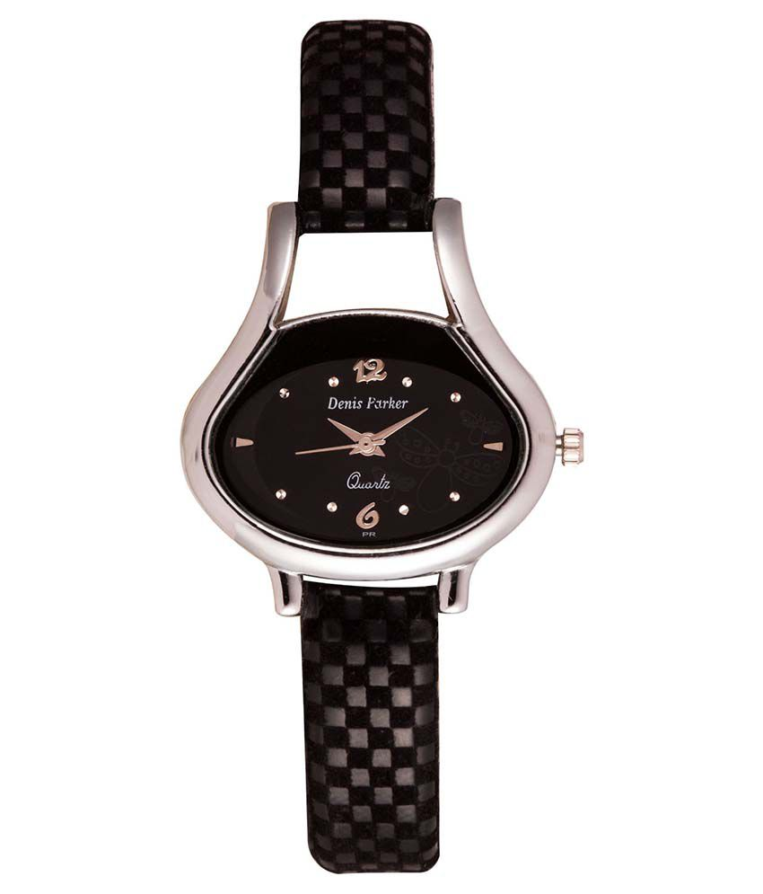 Fastrend Black Oval Analog Formal Watch