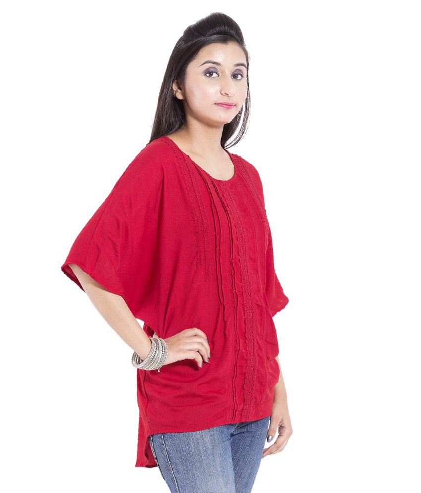 8cc8d5af96139 Goodwill Red Viscose Tops - Buy Goodwill Red Viscose Tops Online at ...