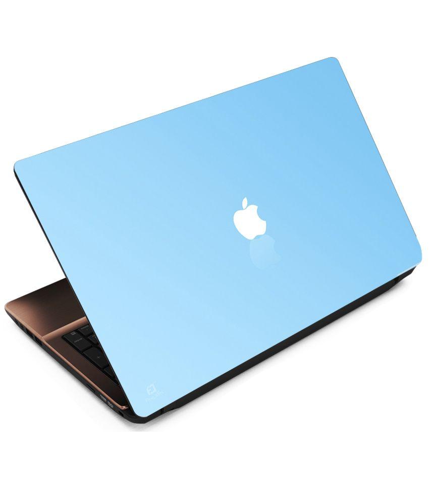 Indiashopers Apple Blue Back Laptop Notebook Skins for 13 ...