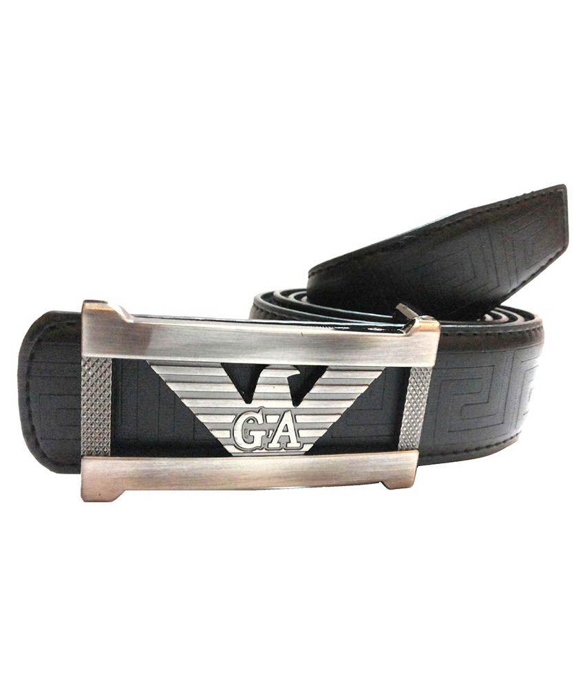 Mode Leather Casual Black Color Autolock Buckle Belt For Men