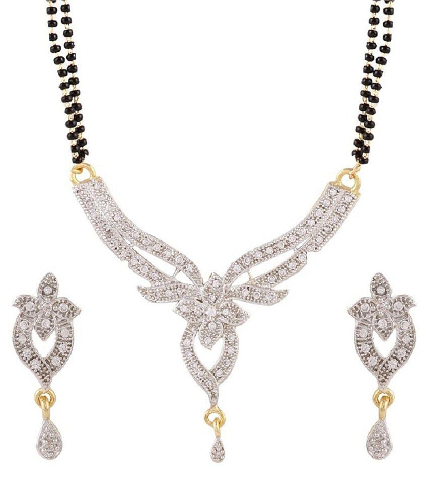 Patwa Silver Alloy Mangalsutra Set