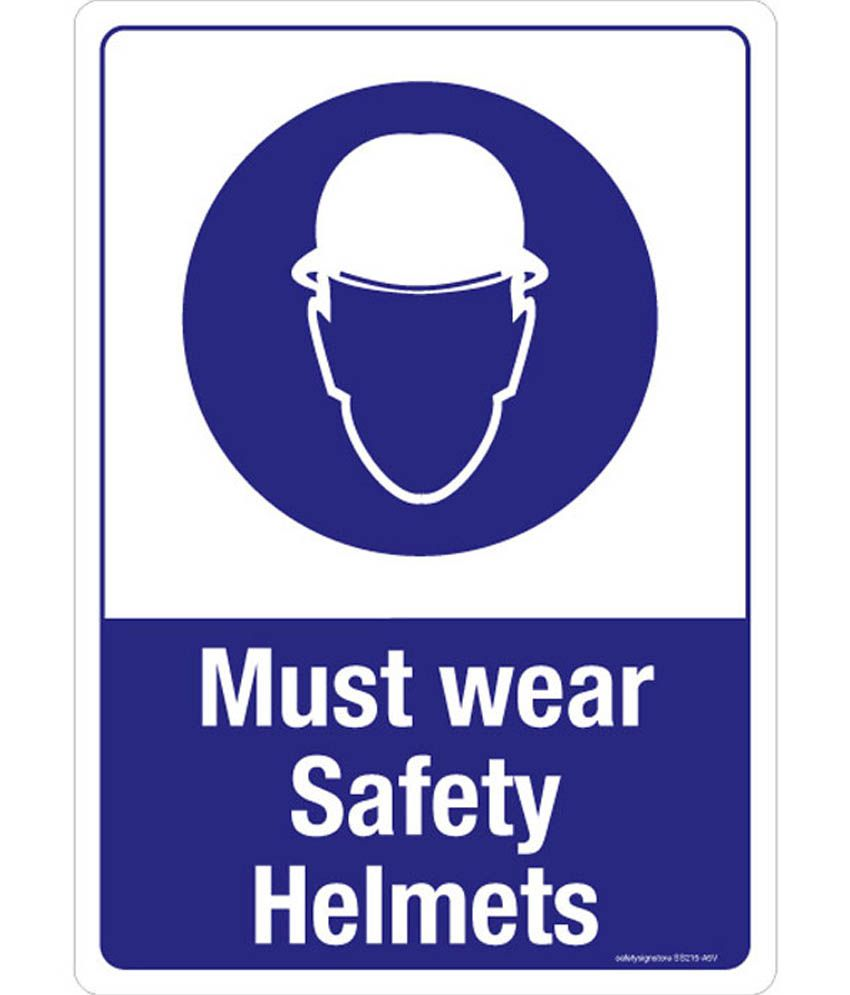 Safety Sign Store Must Wear Safety Helmets Safety Sign
