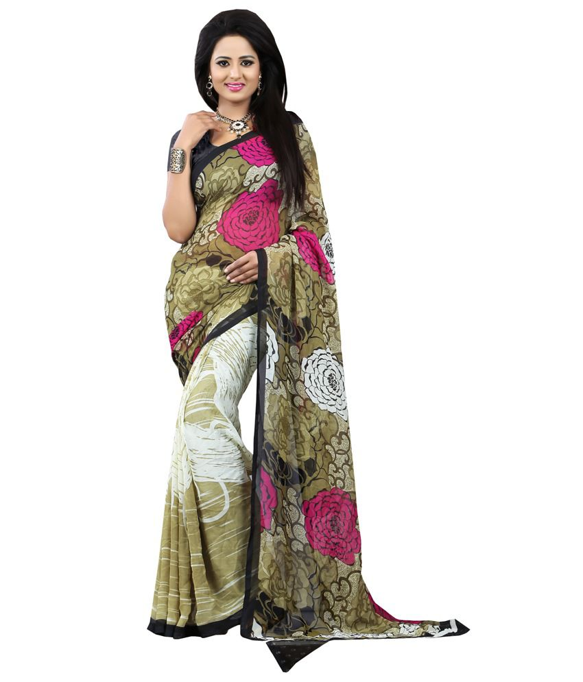 Khoobee Multicoloured Crepe Saree