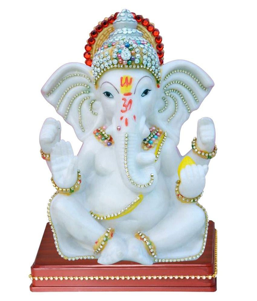 Laxmi White Poly Resin Ganesha Idol Buy Laxmi White Poly Resin