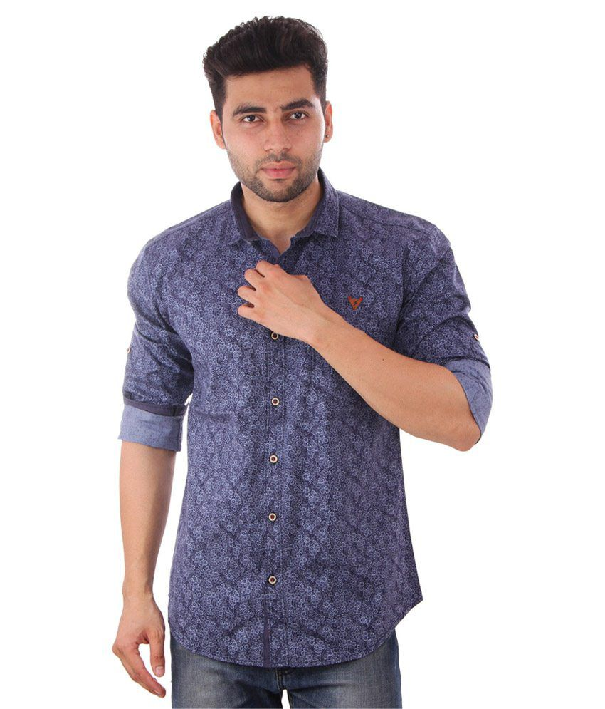 Studio Nexx Blue Casual Shirt