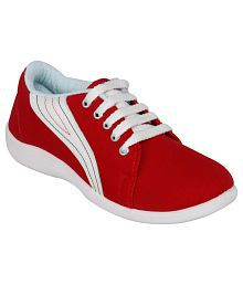 Rex Shoes Red Casual Shoes