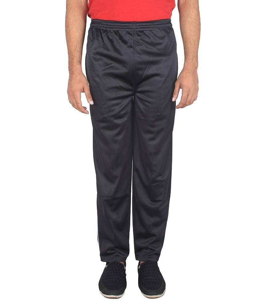 Anjaneya Black Polyester Trackpant - Pack of 7