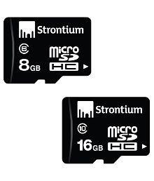 Strontium Combo of 8GB microSD (Class 6) and 16 GB microSDHC Memory Card (Class 10)
