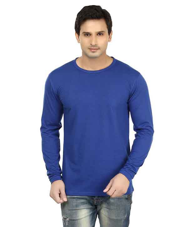 Lowcha Blue Cotton T-Shirt