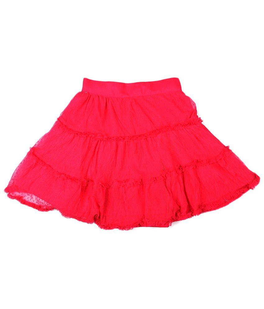 People Pink Polyester Skirt