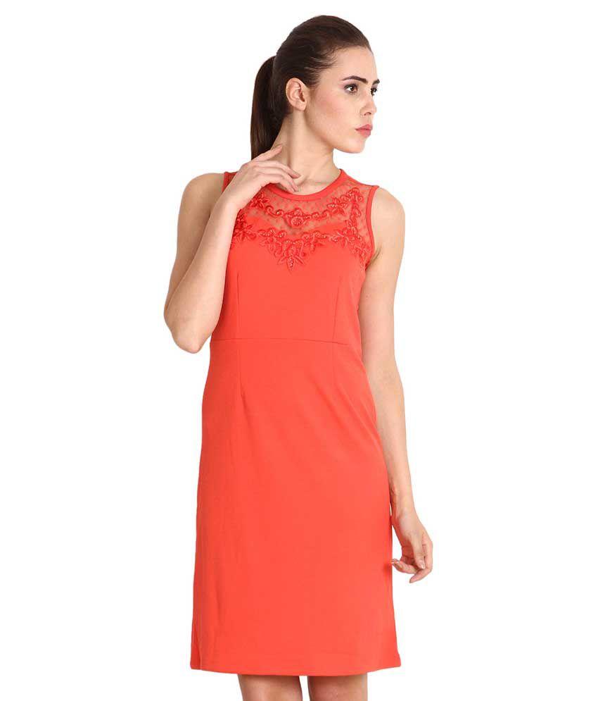 Soie Orange Others A Line Dress