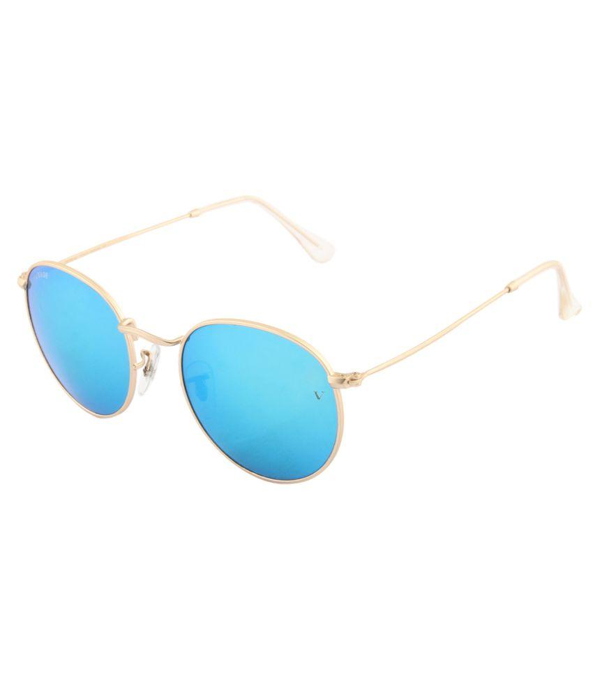 Voyage Blue Medium Unisex Round Sunglasses