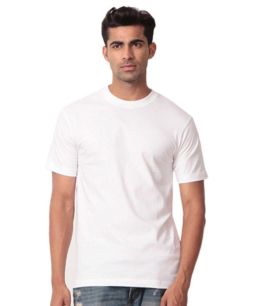 Govees White Cotton Blend T Shirt