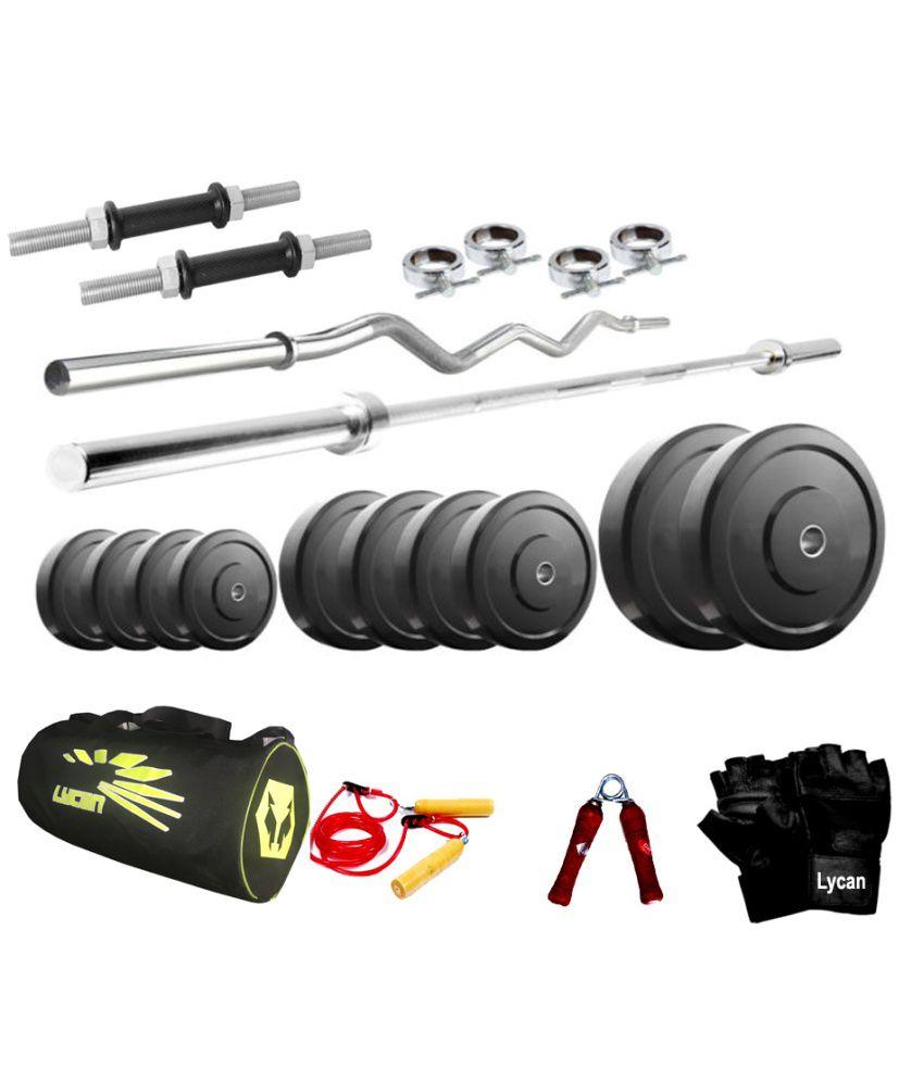 Cybex Treadmill Error 3: Lycan 38 Kg Home Gym + 5 & 3 Feet Rods + Bag Pack