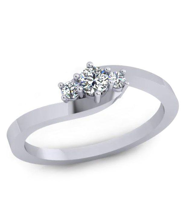 Eleglance Jewellery 18kt White Gold Ring