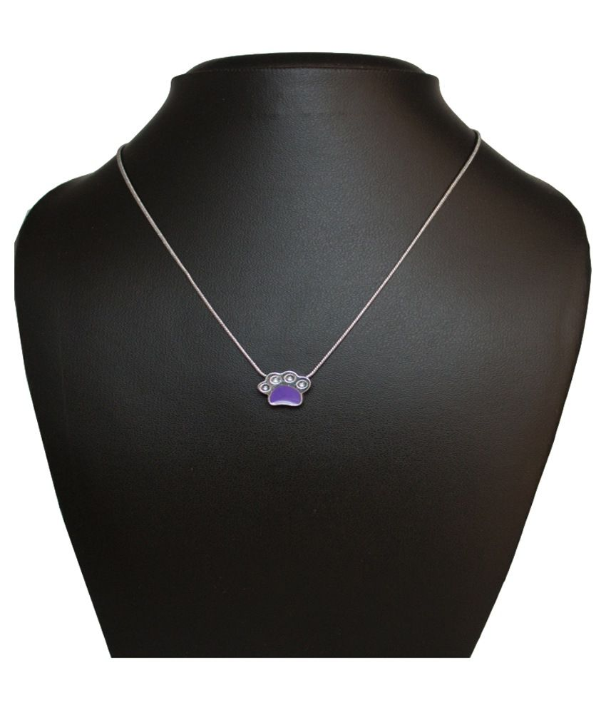 Krafftwork Contemporary Purple Alloy Pendant