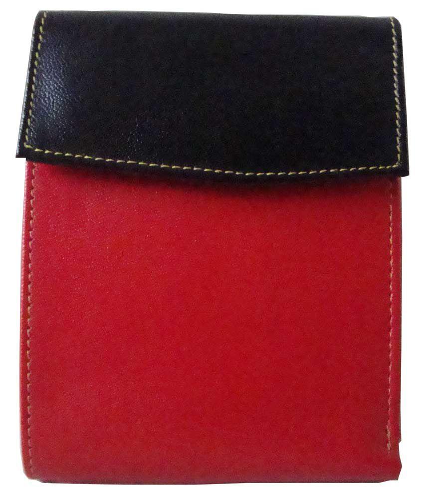 Lee Italian Red Regular Wallet for Women