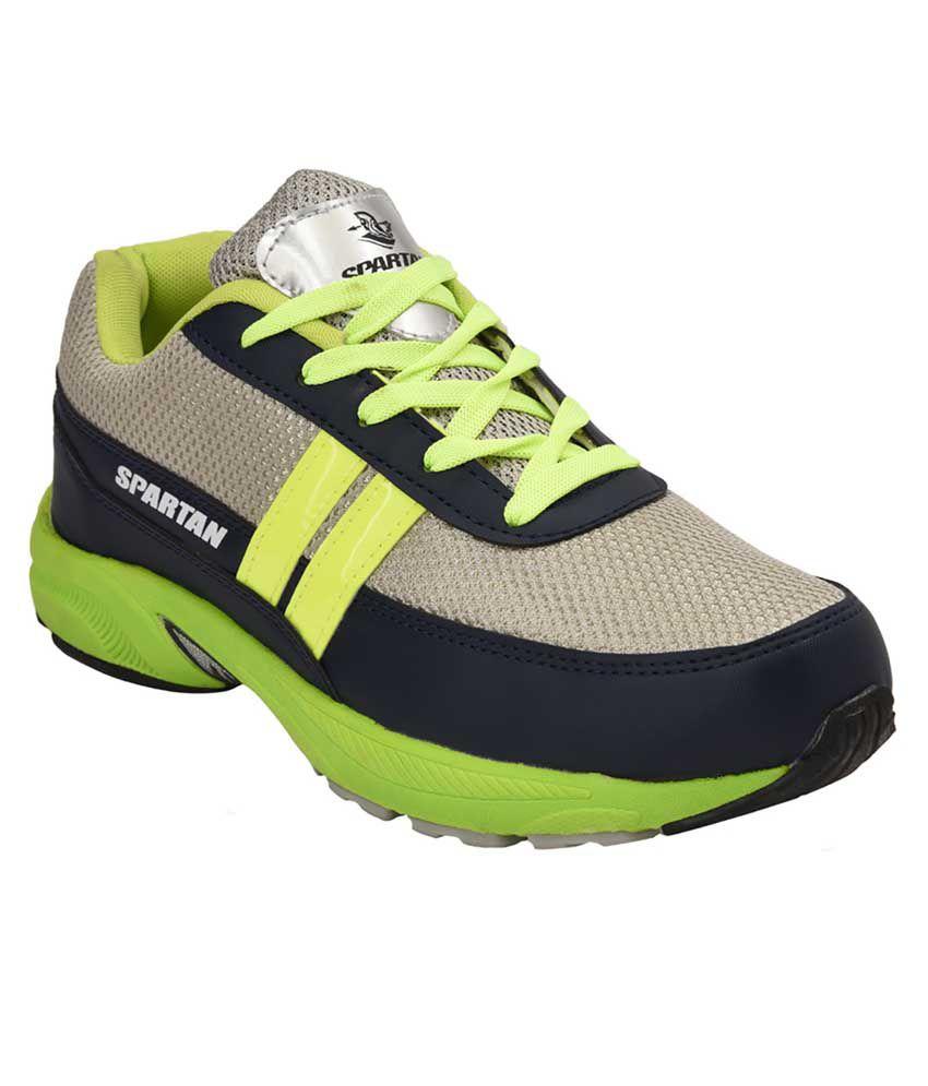 Spartan Green Techno Jogging Shoes