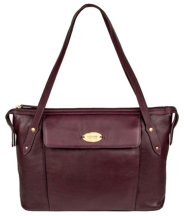 Hidesign Sb Cordelia 01 Ge Aubergine Brown Shoulder Bag