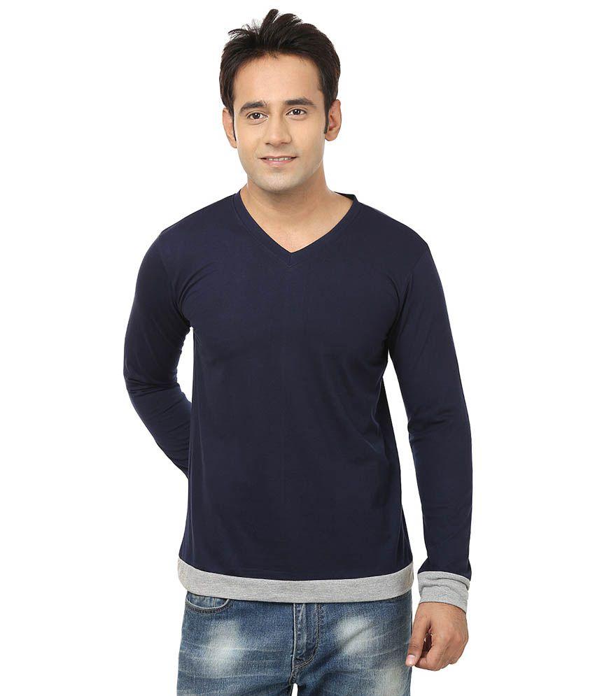 Jangoboy Navy Cotton T-Shirt