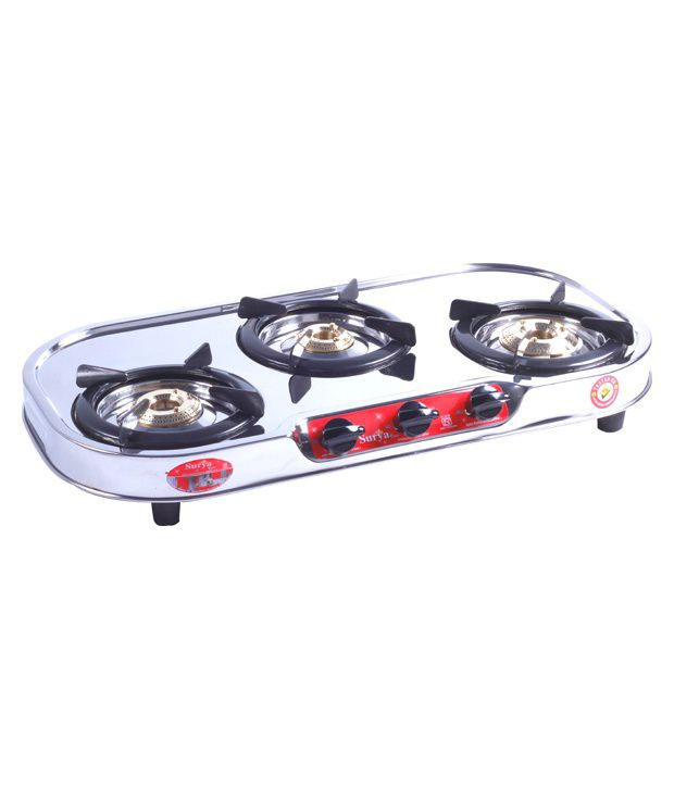 Surya Care SC-SS-304 Gas Cooktop (3 Burner)
