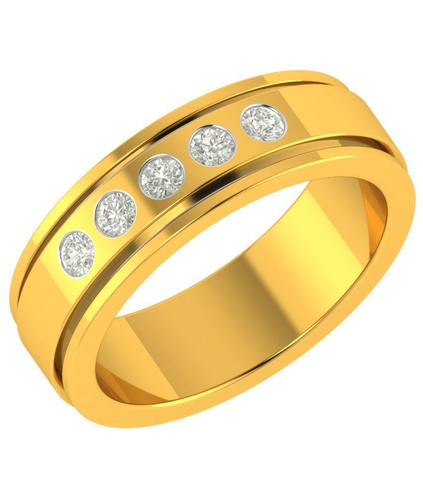 Charu Jewels 18kt Yellow Gold Diamond Ring