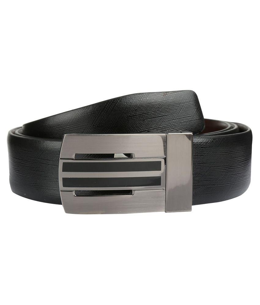 Park Avenue Black Leather Belt for Men