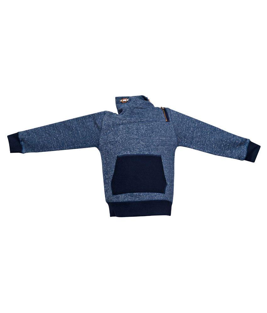 Parv Collections Blue Cotton Sweatshirt For Boys