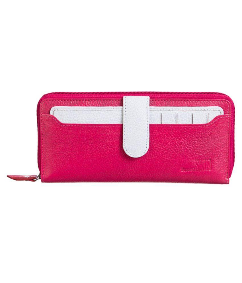 Second Skin Leather Pink Women Regular Wallet