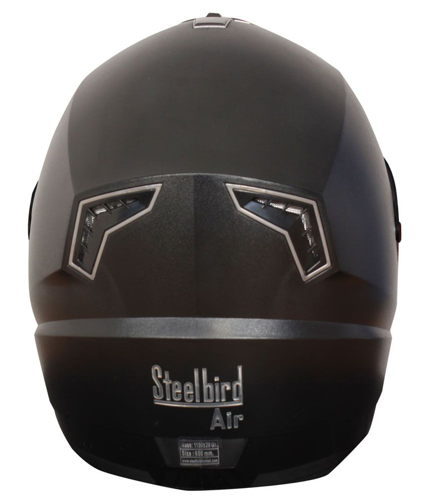 a337f4dc ... Steelbird Air SBA01 Dashing Full Face Helmet Tinted Visor (Black) ( Medium -58 ...