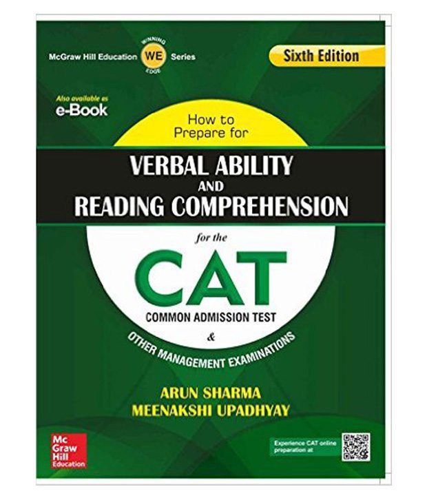 how to prepare for verbal ability and reading comprehension for the cat paperback english 6th edition