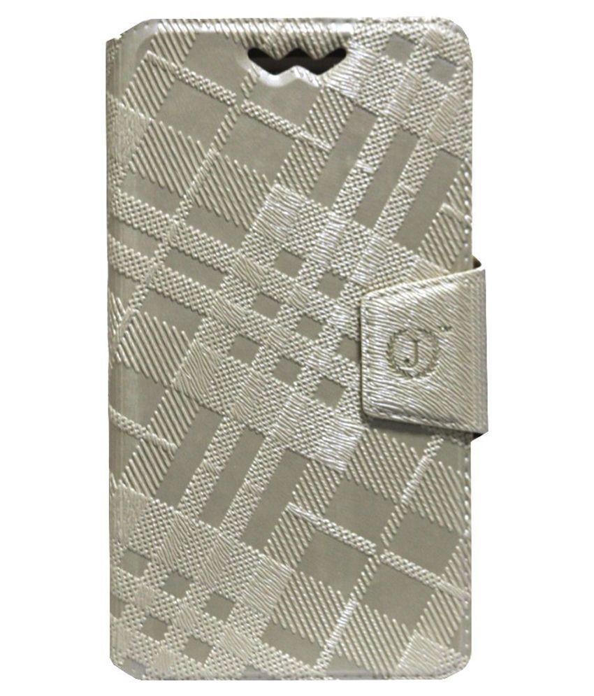 Jo Jo Flip Cover For Celkon Millennia Q5k Power -grey