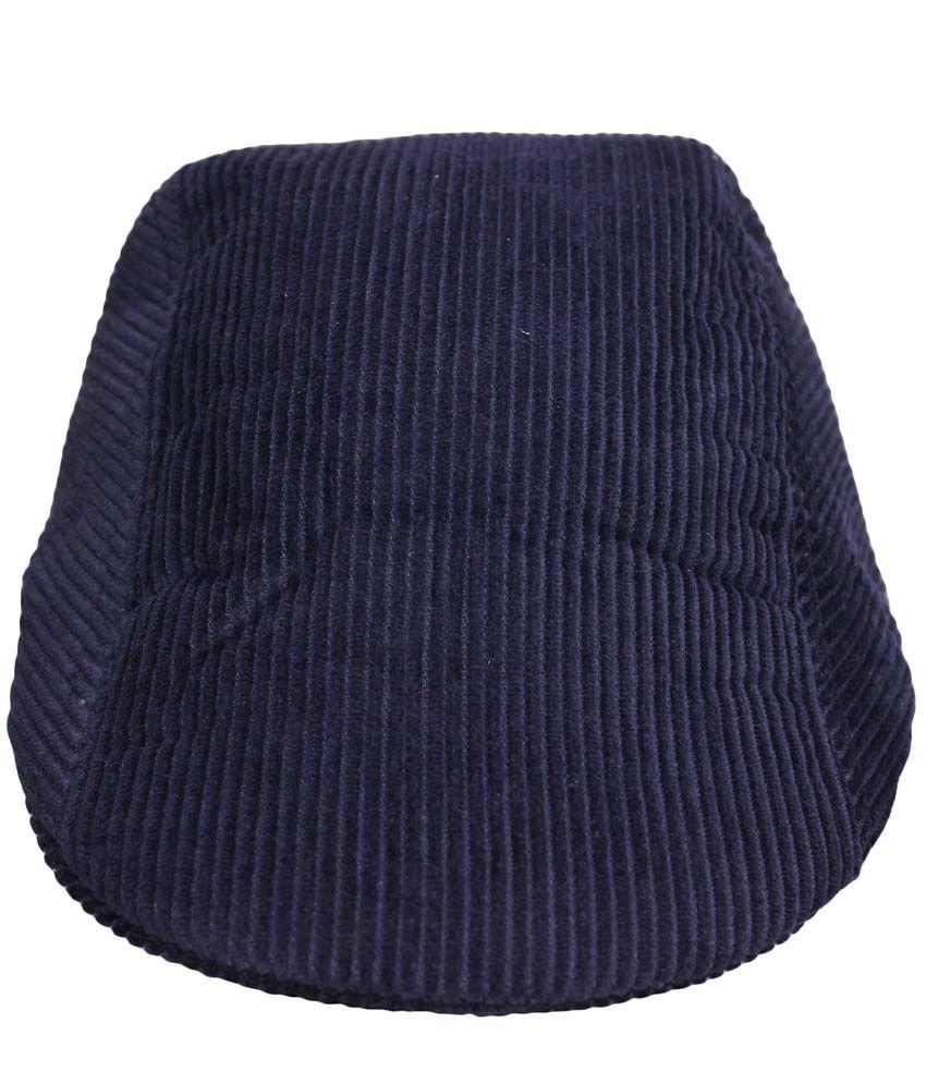 Air Fashion Blue Cotton Golf Cap For Men