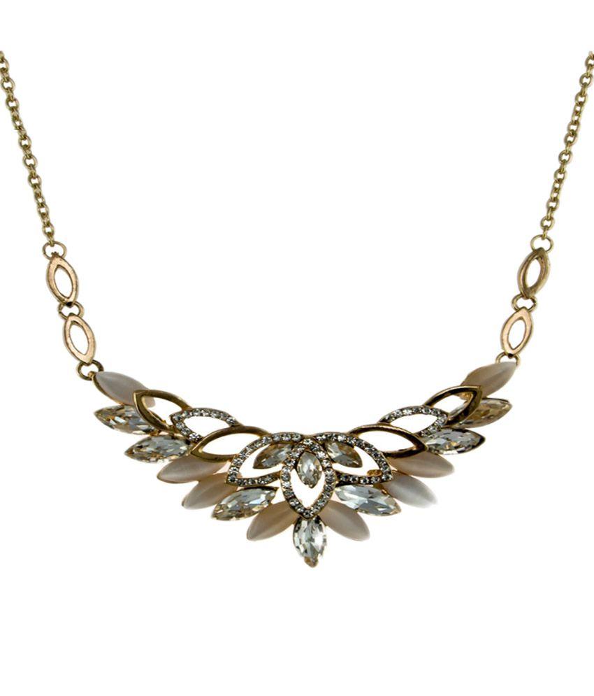 krafftwork Silver Alloy Necklace