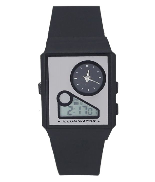 Legenddeal Black Analog and Digital Casual Watch