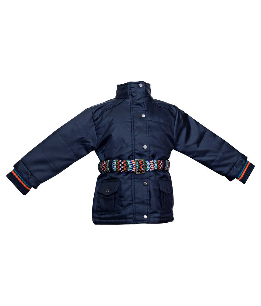 Parv Collections Blue Polyester Padded Jacket