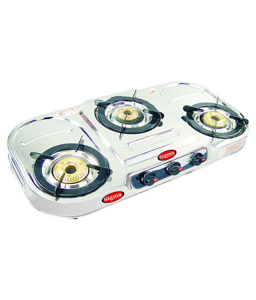 Sigma 301 Manual Gas Cooktop (3 Burner)
