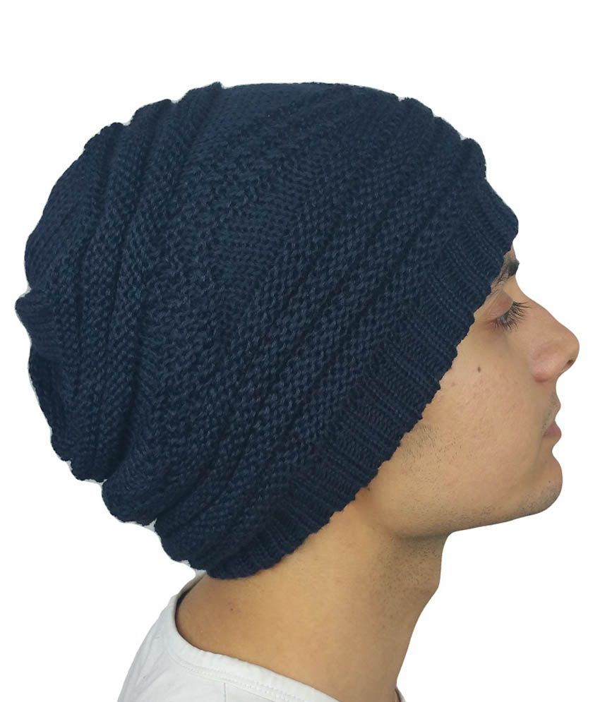 iSweven Blue Beanies Cap For Men
