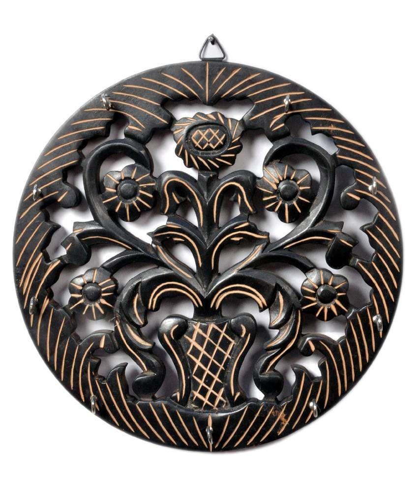 Craft Echo Brown Handicrafts Wooden Key Holder