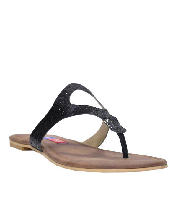 MAS Black and Brown Flat Slip-Ons