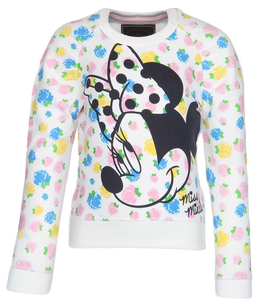 Mickey & Friends Off White Crew Neck Sweatshirt