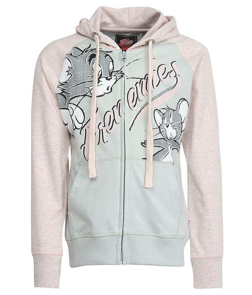 Tom & Jerry Pink With Hood Sweatshirt