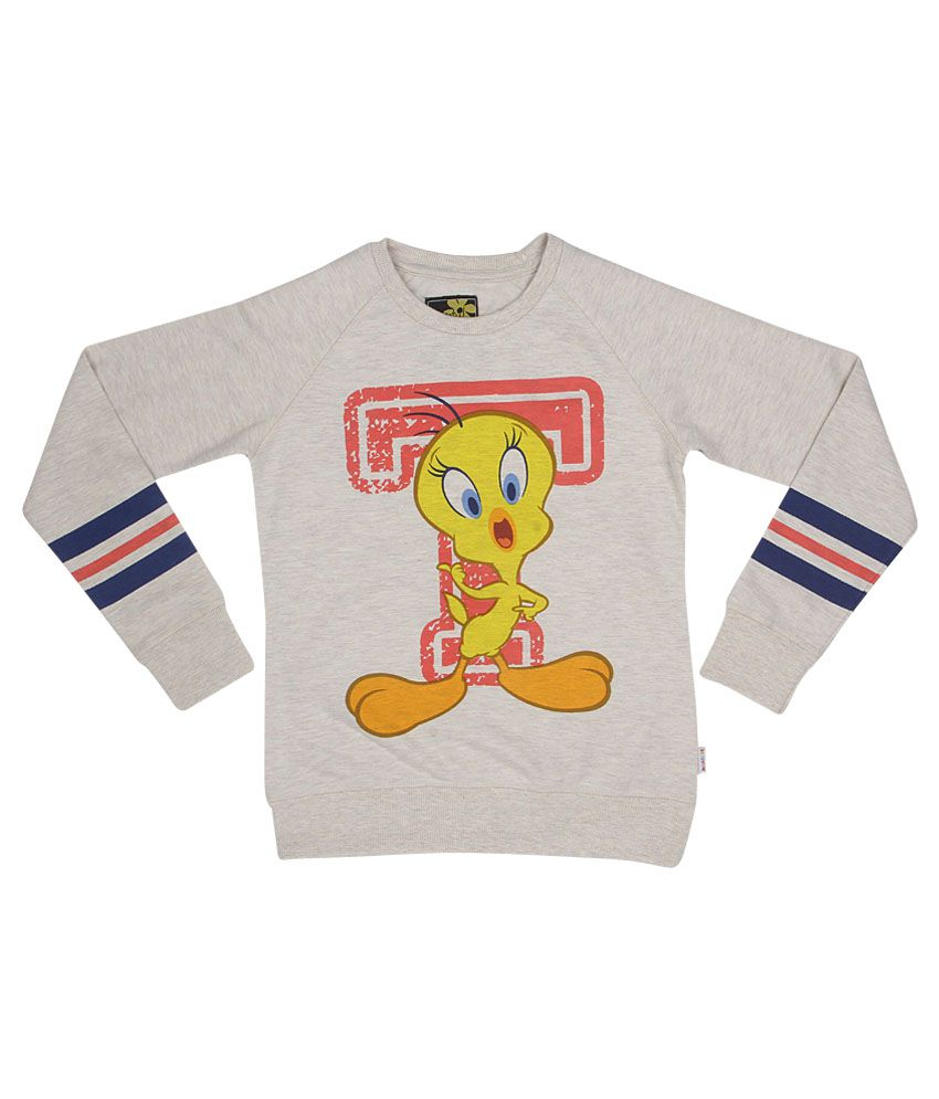 Tweety Gray Crew Neck Sweatshirt