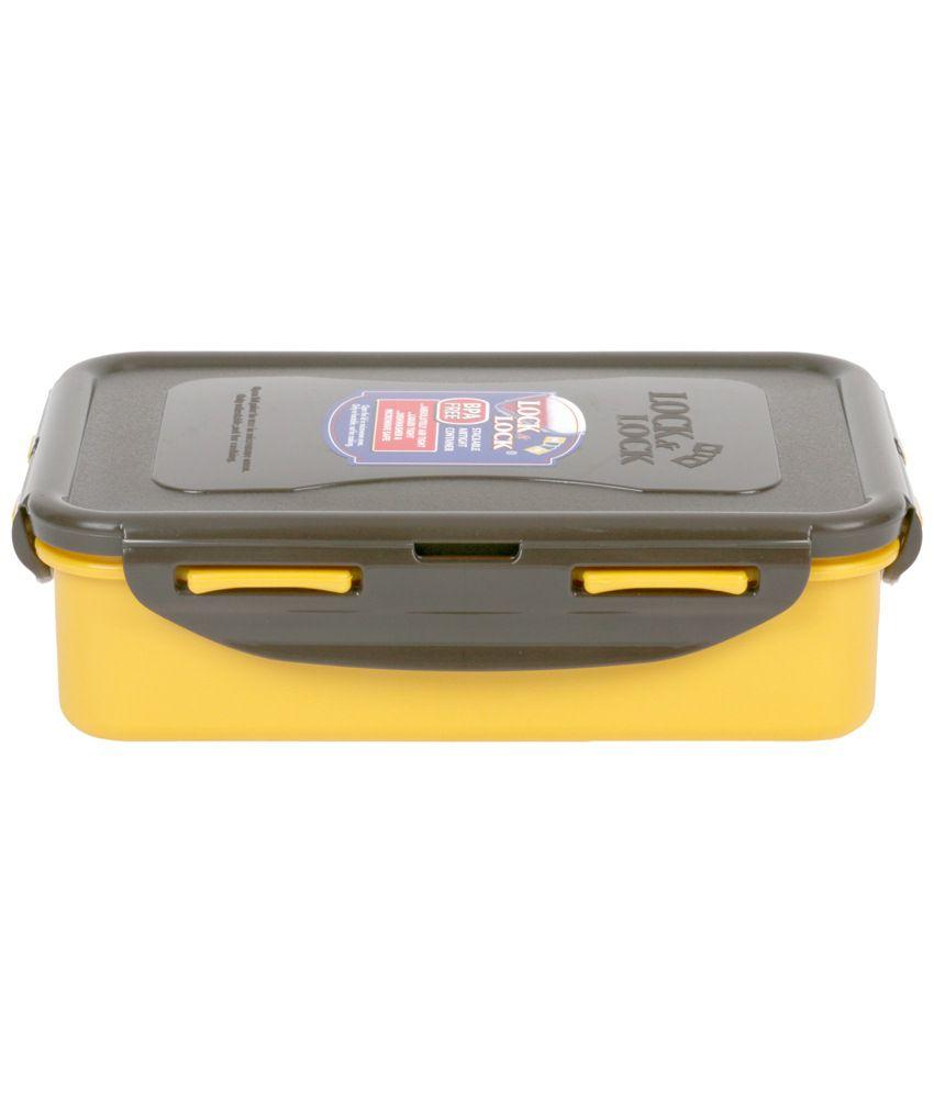 Lock & Lock Yellow Classics Short Rectangular Food Container 550 ml