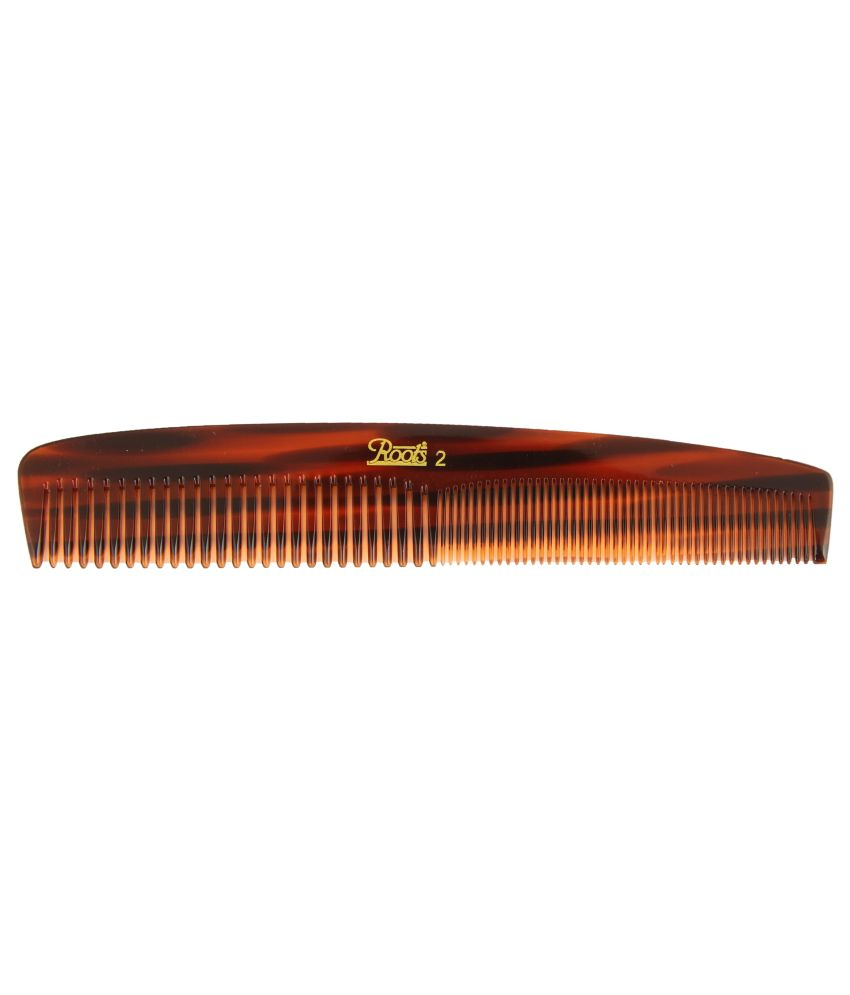 Roots Brown Dressing Comb for Fine/Medium Length Straight Hair (Pack of 5)