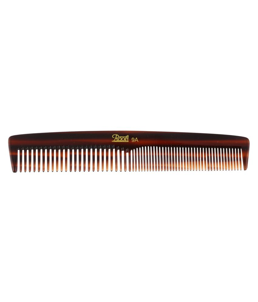 Roots Brown Dressing Comb for Short Straight Hair (Pack of 5)