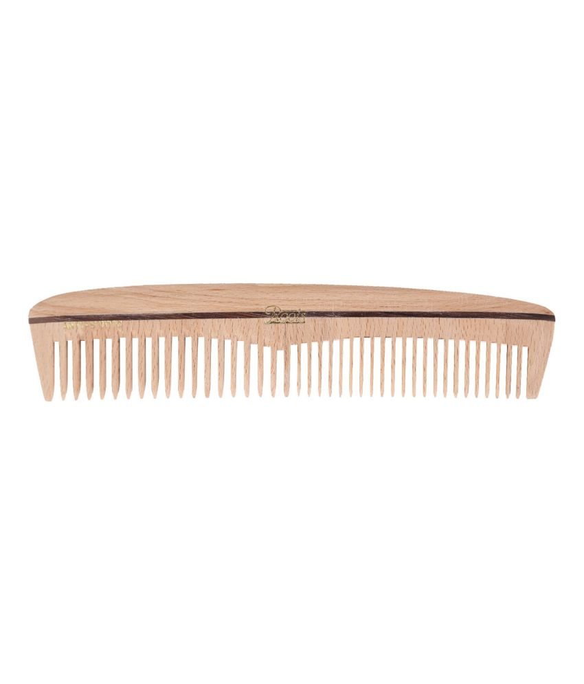 Roots Wooden Dressing Comb for Long Straight Hair (Pack of 7)